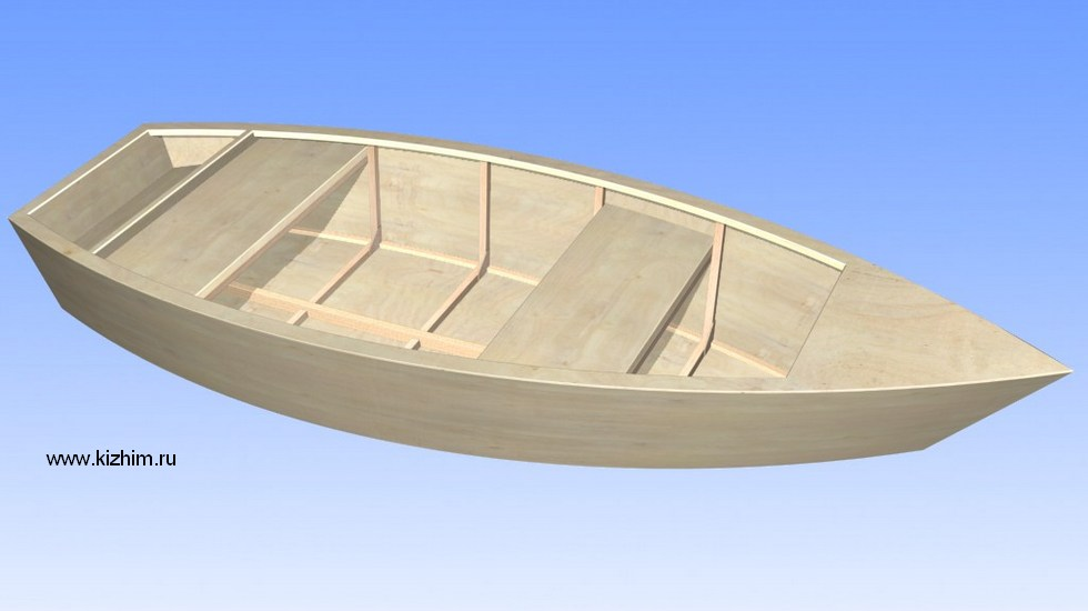 Постройка лодки из стеклопластика